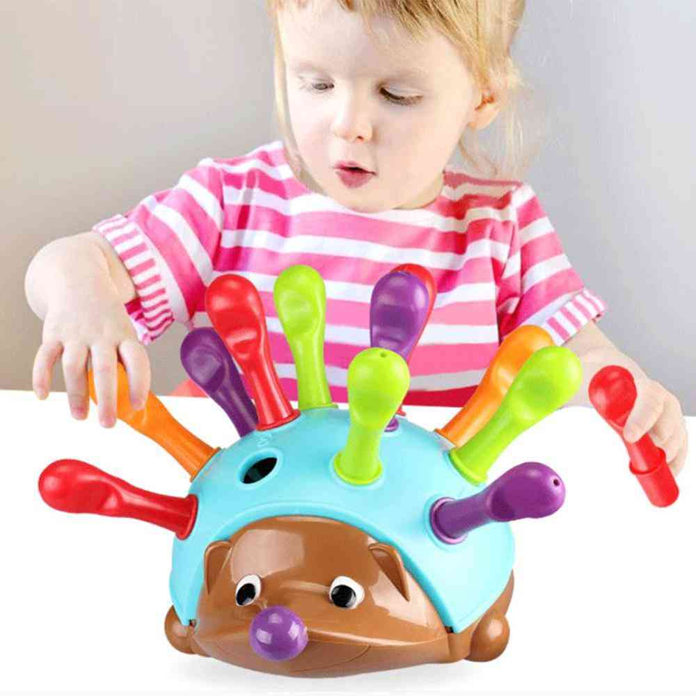 Hedgehog Sorter Color Stacking Toy For Kids Early Education  (with Color Box)