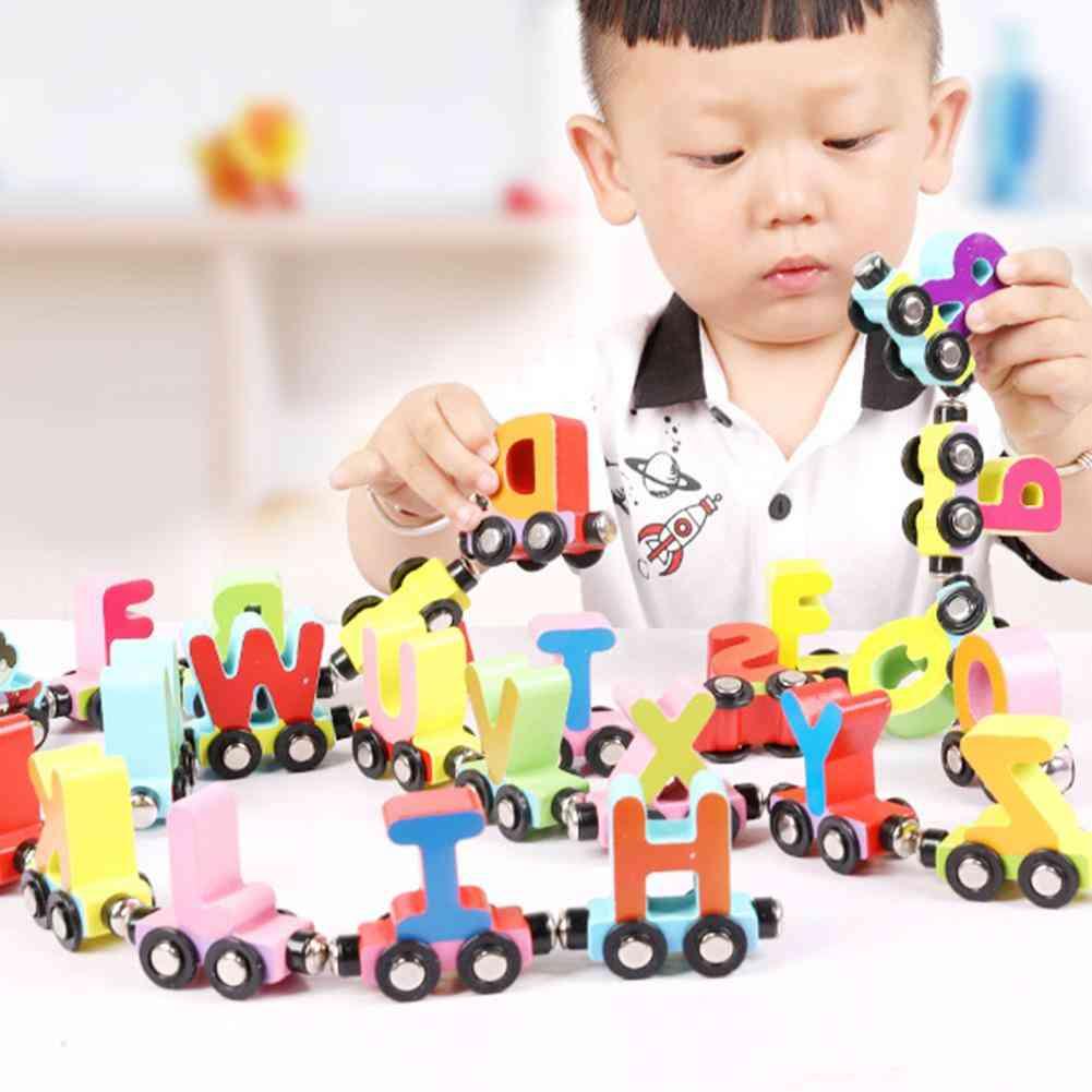 Magnetic Animal Mini Train Cars Number, Alphabet Kids Educational