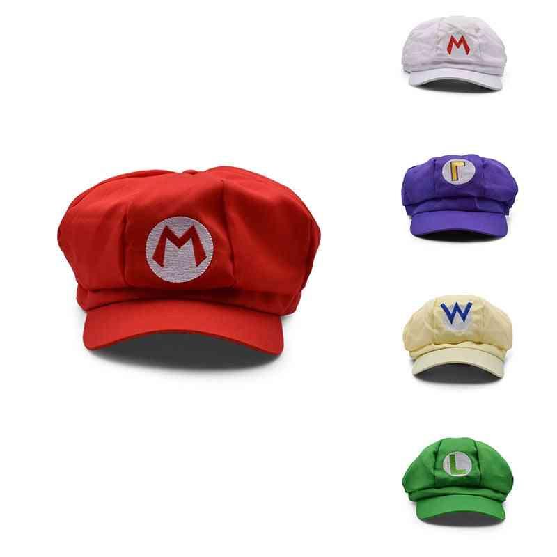 Hot Supermario, Super Mary Cosplay Mario, Cosplay-clothes Halloween-costumes Cartoon Hats 5 Colors