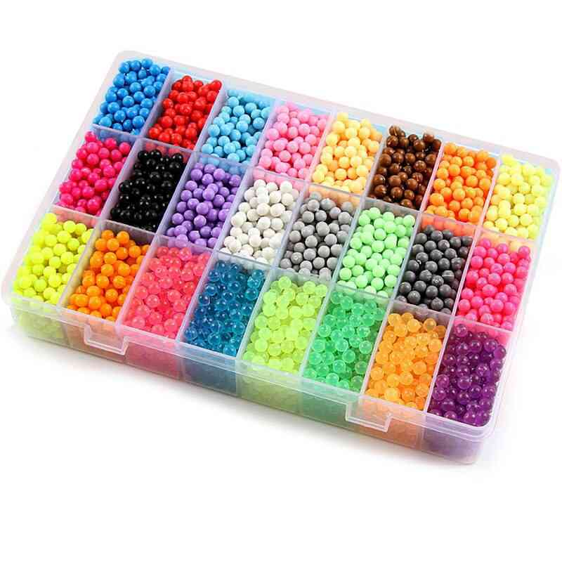 3d Crystal Diy Beads Puzzle And Water Spray Set Ball Games