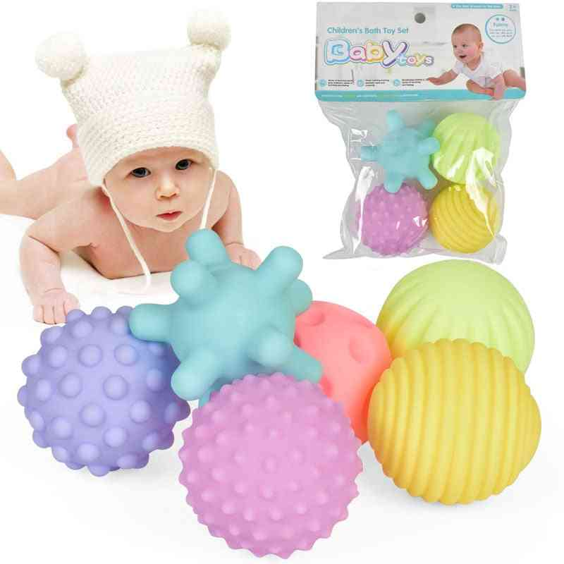 Pastel Colors, Baby Touch Hand Ball-soft Rubber Textured, Multi Sensory Objects