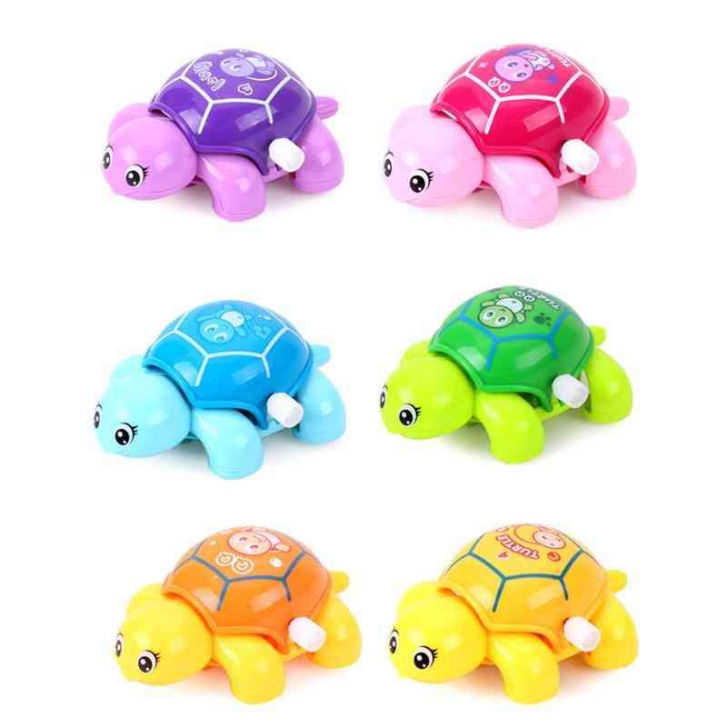 1pc Baby Mini Clockwork Tortoise, Plastic Turtle Wind Up Toy, Kids Animal Shape Wind Up Toy Clockwork Tortoise
