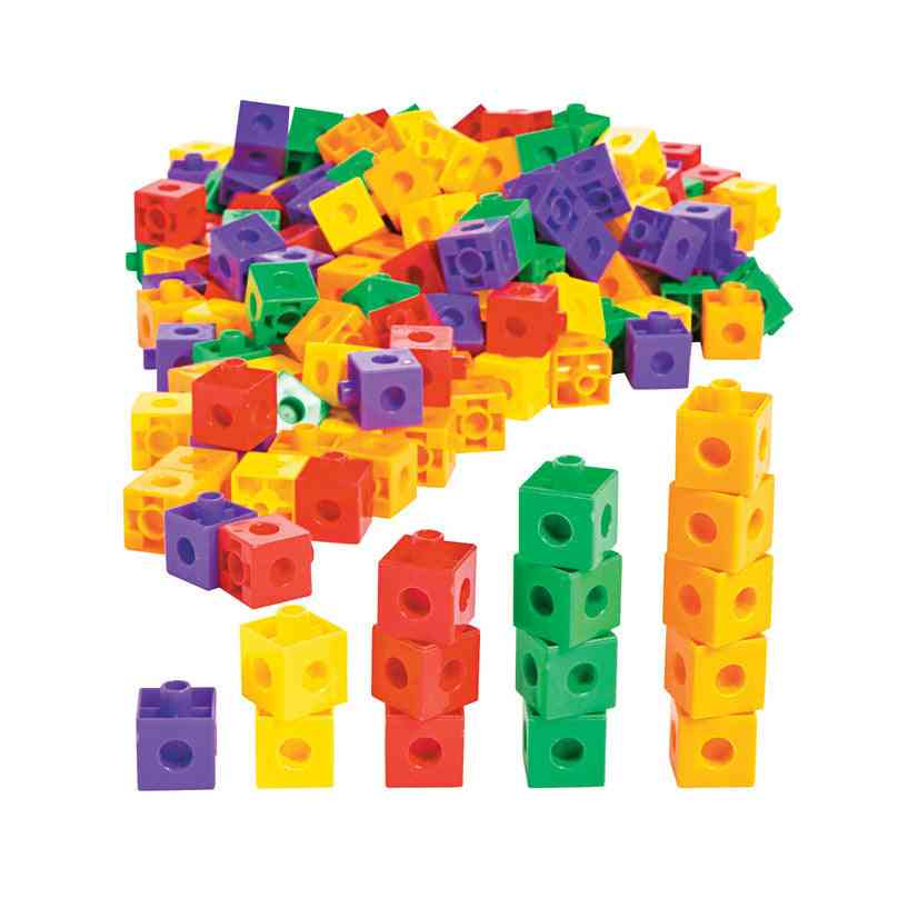 Stacking Blocks - 100x Kids Building Kit, Stacking-cubes-bricks Puzzles For Creative Party Toy