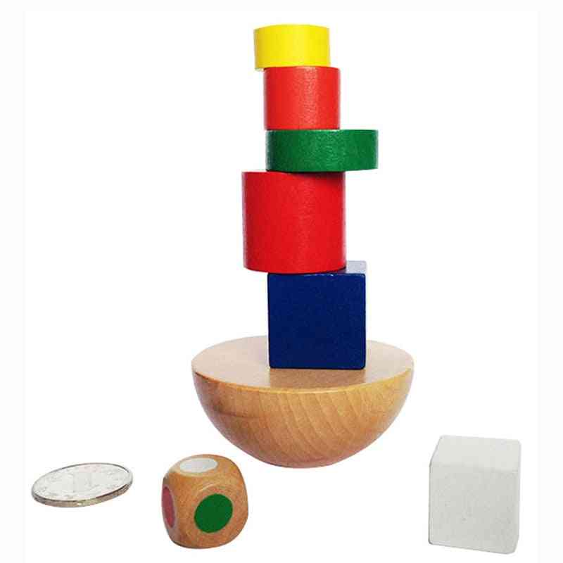 Wooden Building Blocks Toy - Balance Training Game For Baby