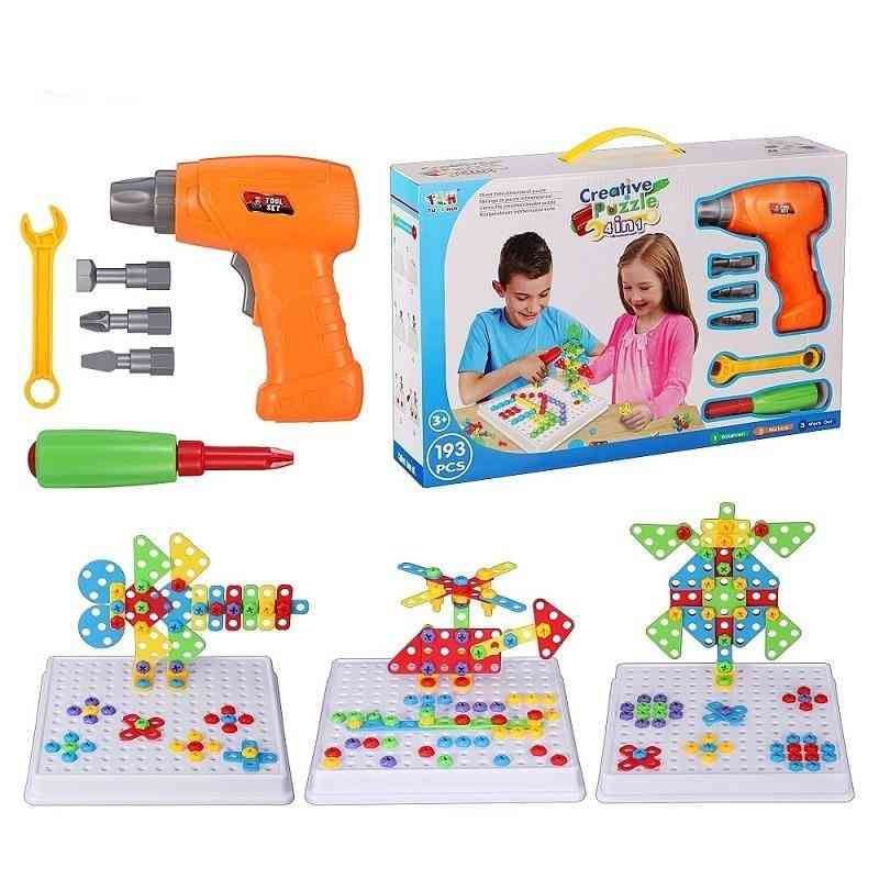 Electric-drill-screw 3d Puzzle For, Creative