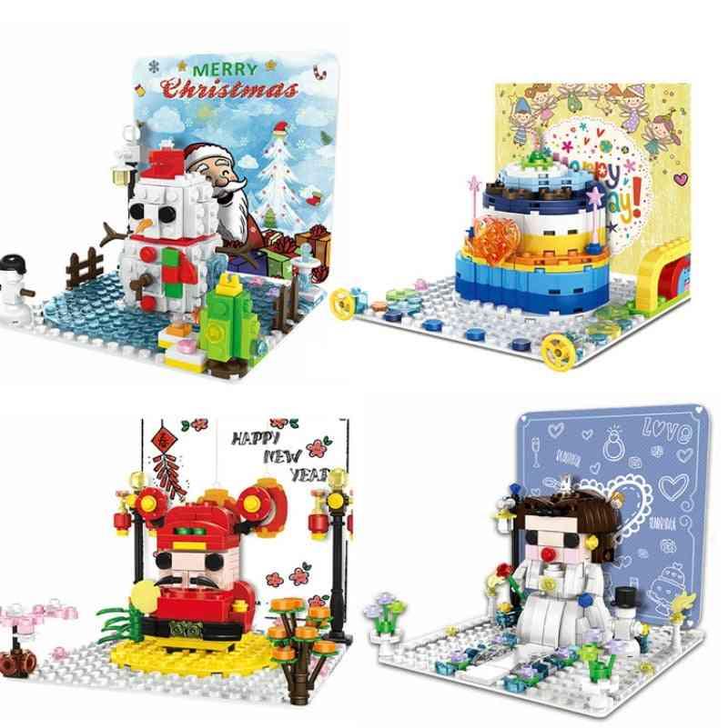 Mini Blocks Christmas Snowman Brickheadz