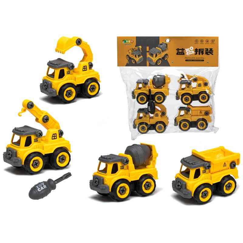 Engineering Car Assembly Toys And Truck Excavator Bulldozer