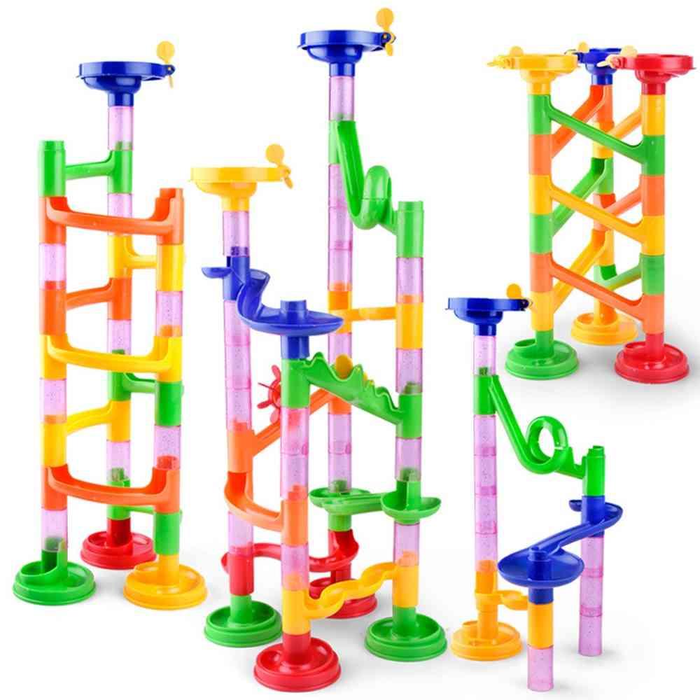 Marble Race Run Maze Balls, Track Building Blocks  Construction Toy