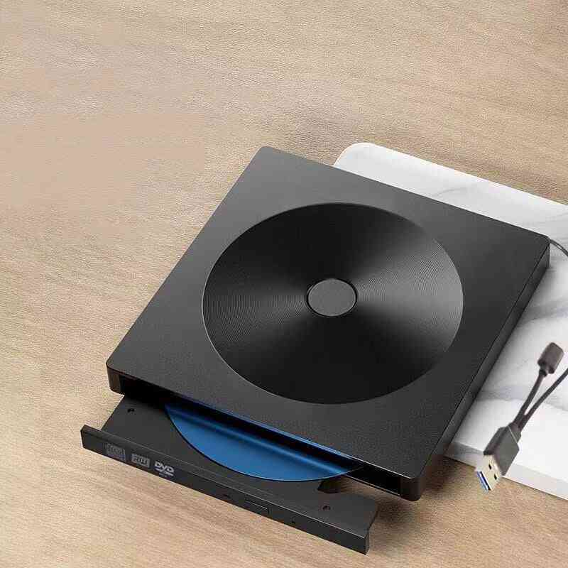 Portable External Cd/dvd Drive With Type-c Usb 3.0 Compatible With Mac/windows