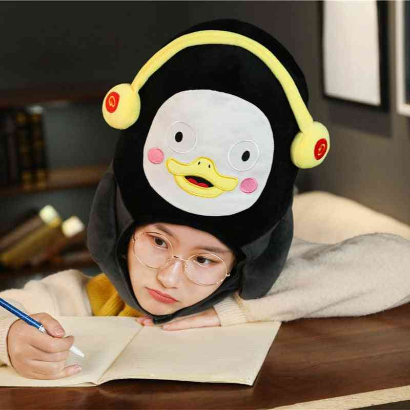 Fluffy Cute Penguin Design Warm Cap/headgear