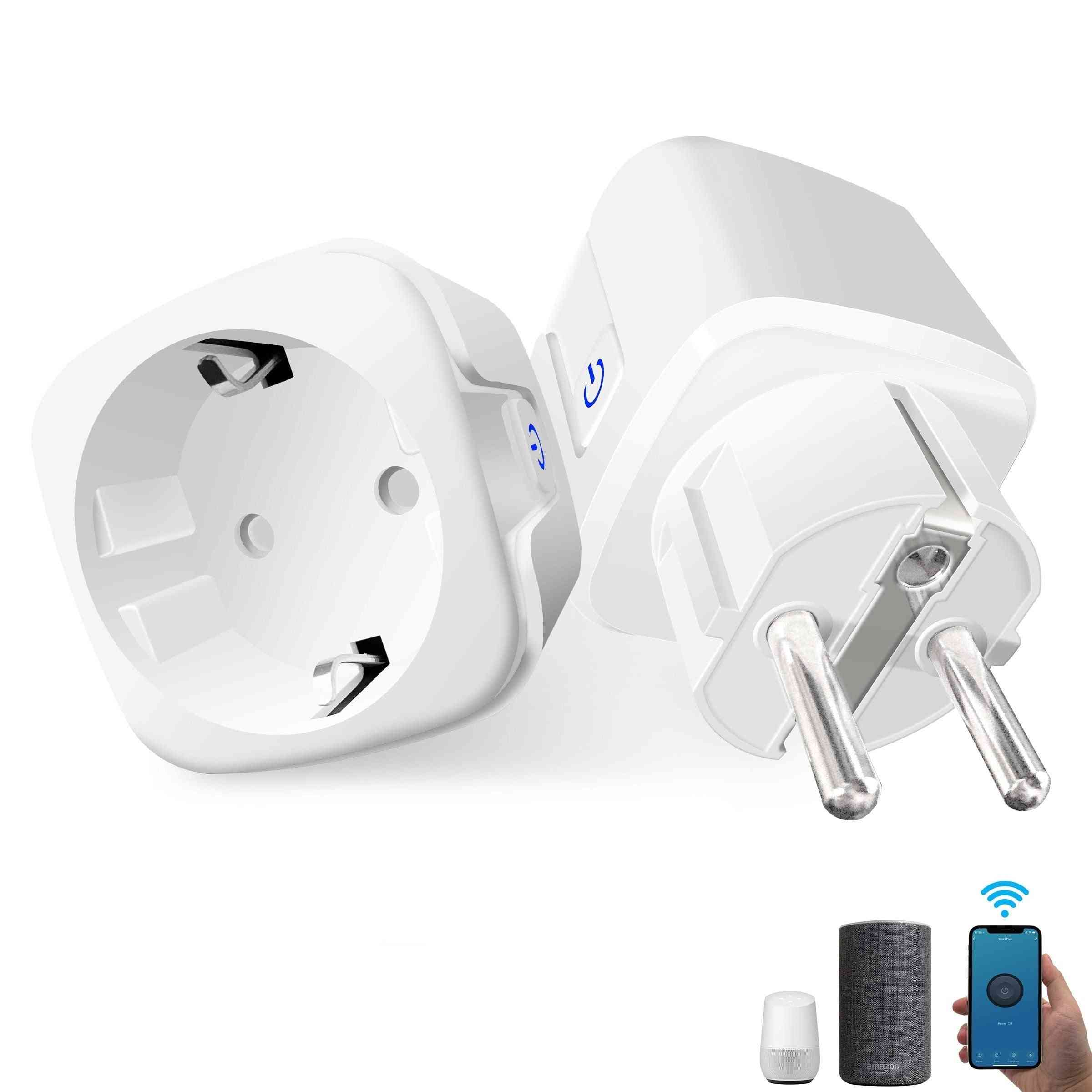 16a Eu Smart Home Wifi Wireless Socket Outlet With Alexa Google Home