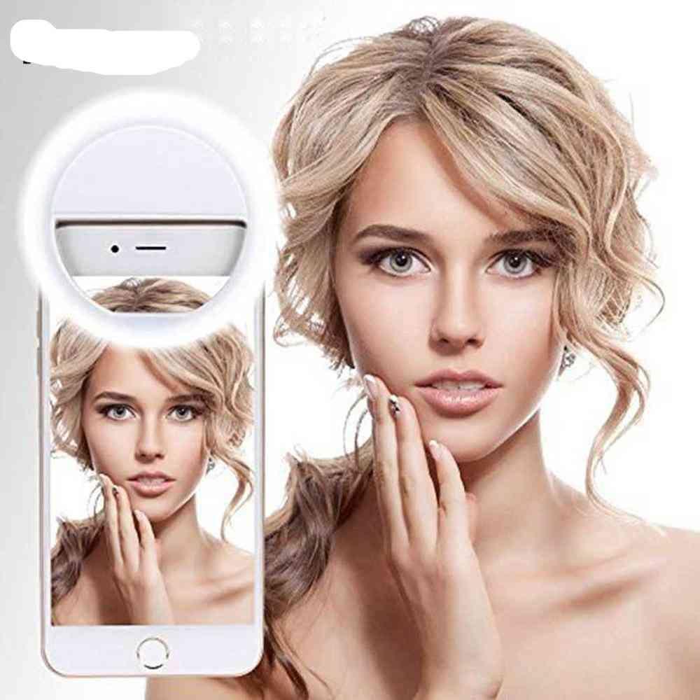 Led Selfie Ring Light - Supplementary Lighting, Selfie Enhancing Fill Light For Iphones