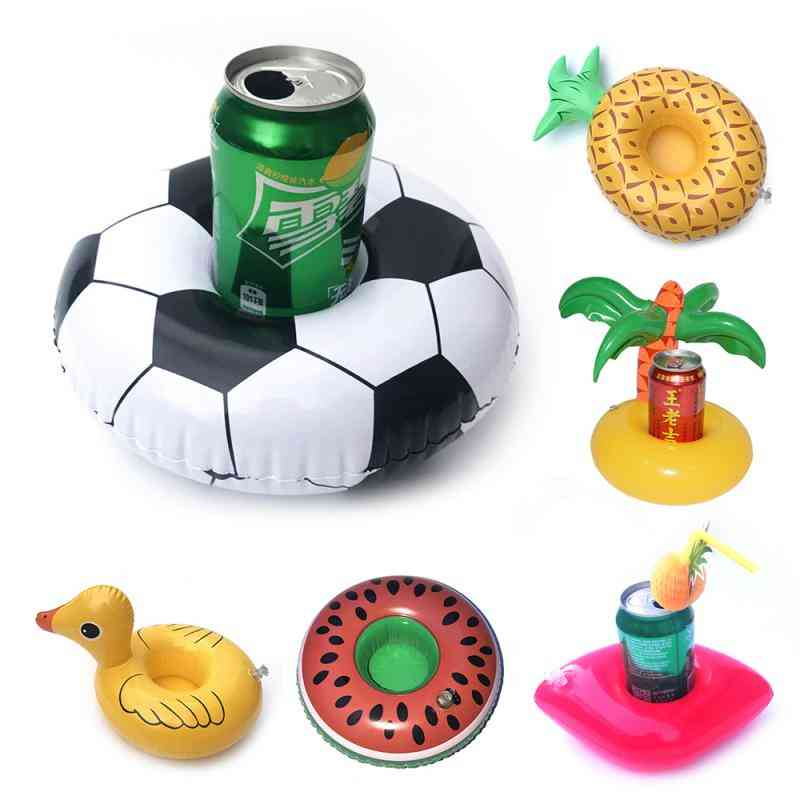 Cute Inflatable Cup Holder Coasters Float Drink Holders Floating Cup Holder Pool Swim Float Water Toy