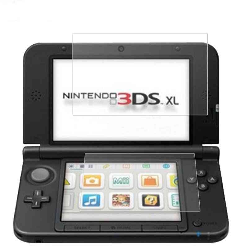 Tempered Glass For Nintendo 3dsxl,  Up + Down Screen Protector Game Console Protective Film Guard