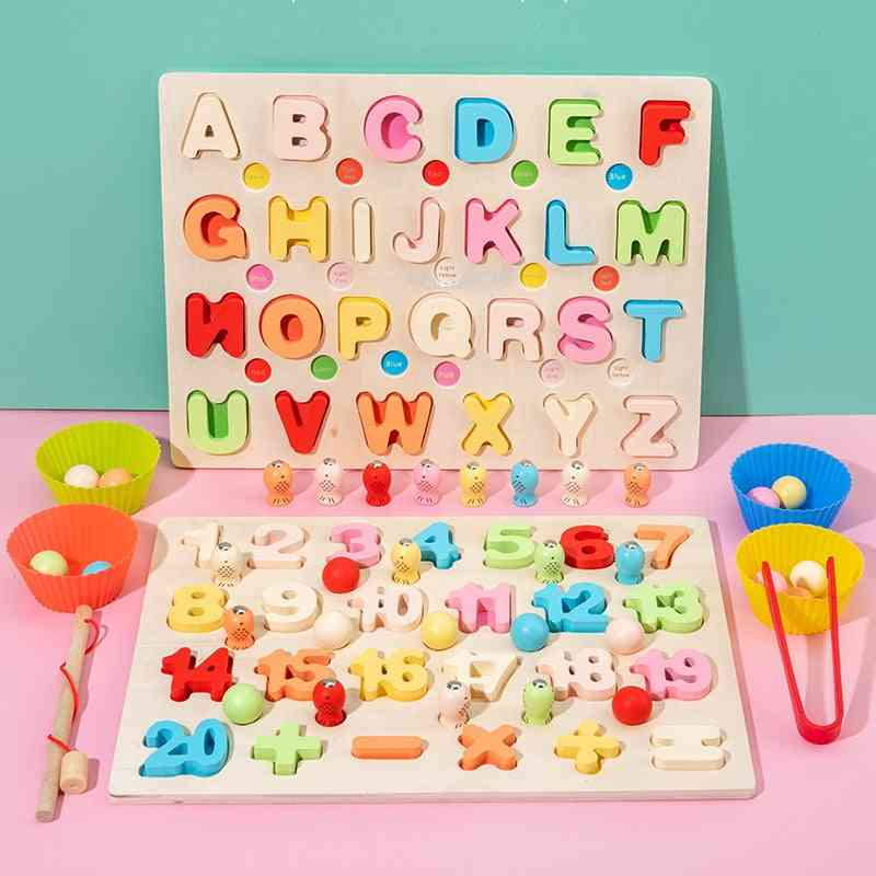 Wooden 26 Alphabet Mathematics Intelligence Development Toy For Kids