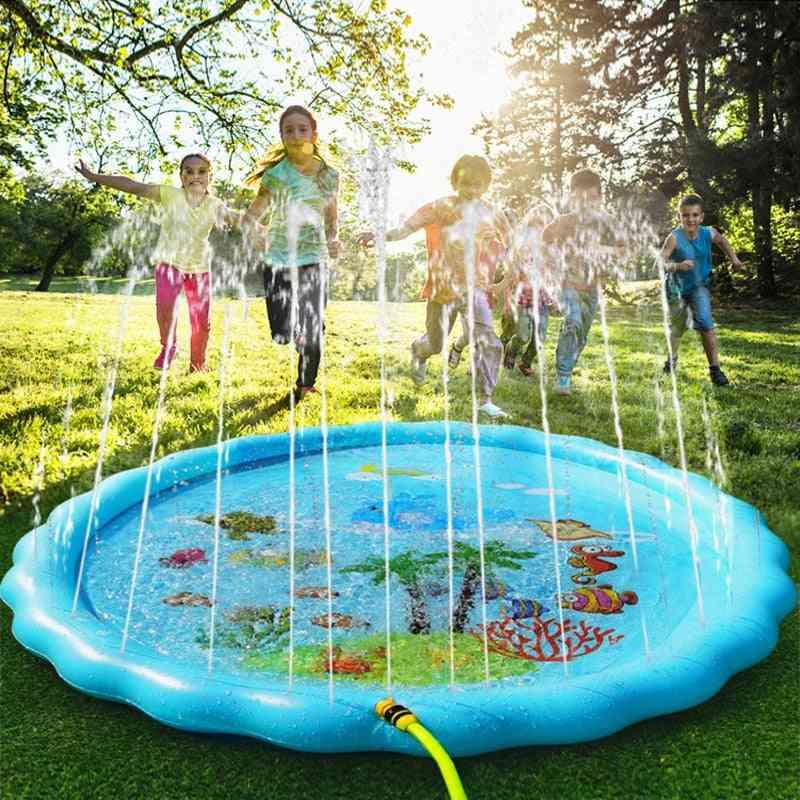Inflatable Outdoor Pool, Beach, Lawn Play - Fun Backyard Fountain Water Mat