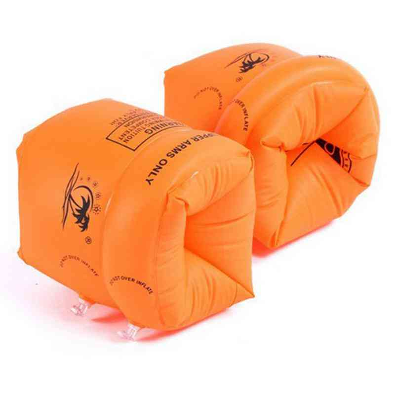 Inflatable Swimming Rollup Arm Bands Rings Floats