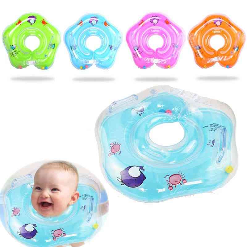 Neck Ring, Inflatable Tube For Infant's Safe Swimming And Floating Cup Holder