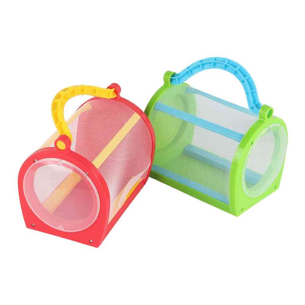 Catching Butterfly Insect Habitat House Cage With Carrying Handle Feeding