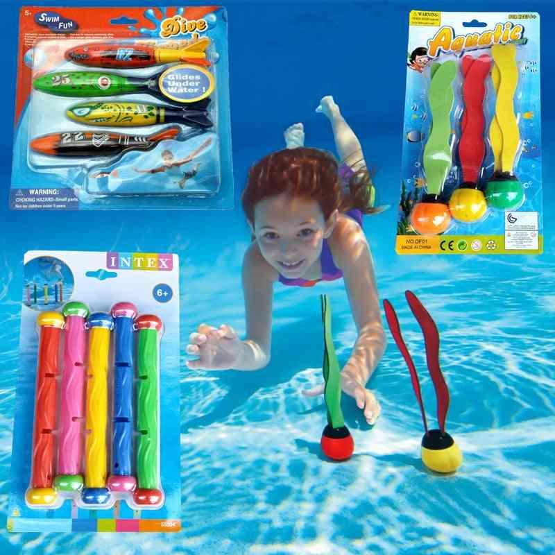 Summer Torpedo Rocket Throwing - Swimming Pool Diving Game