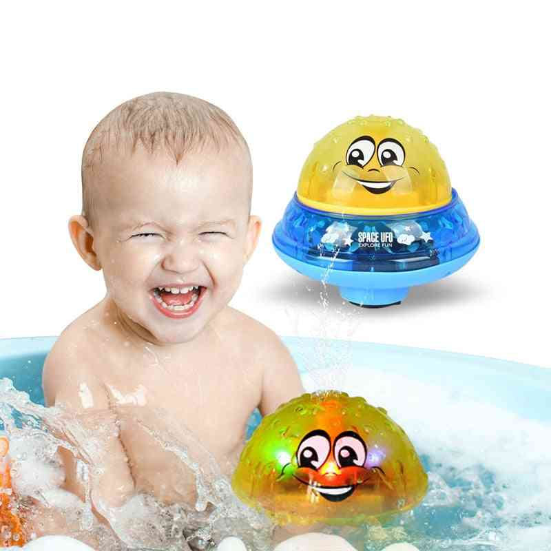 Spray Water Ball Led Lights Foat  Rotating Shower- Outdoor Pool Party Games Toy