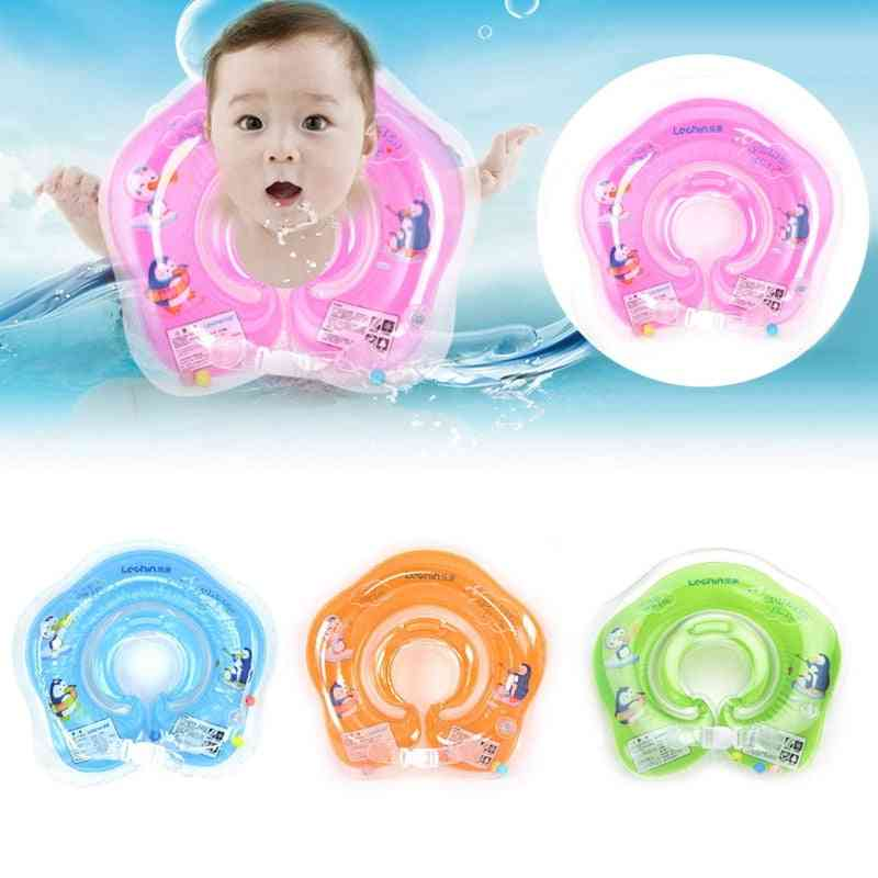 Summer Safe Inflatable Circle Newborn Neck Float- Infant Baby Swimming Ring Safety Child