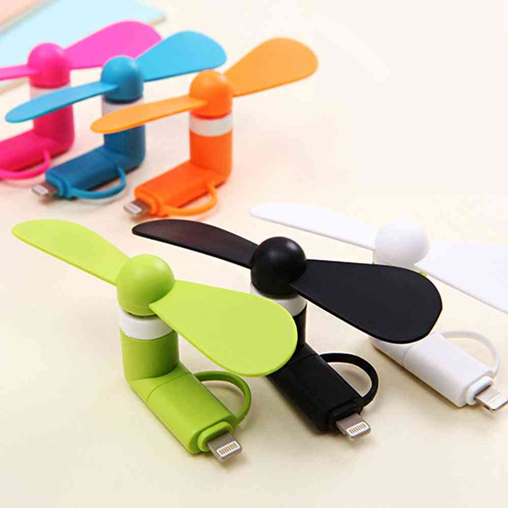 Portable, 5v Mini 2-in-1 Usb Fans Android & Iphone