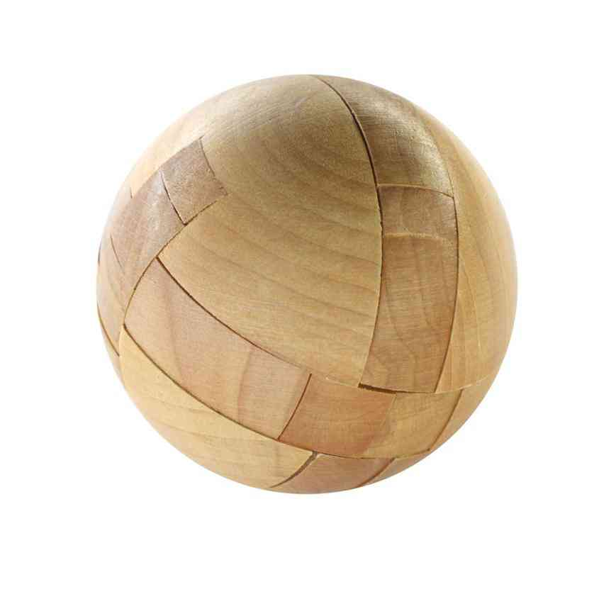 Wooden Intelligence Toy Chinese - Brain Teaser Game - 3d Iq Puzzle For Kids
