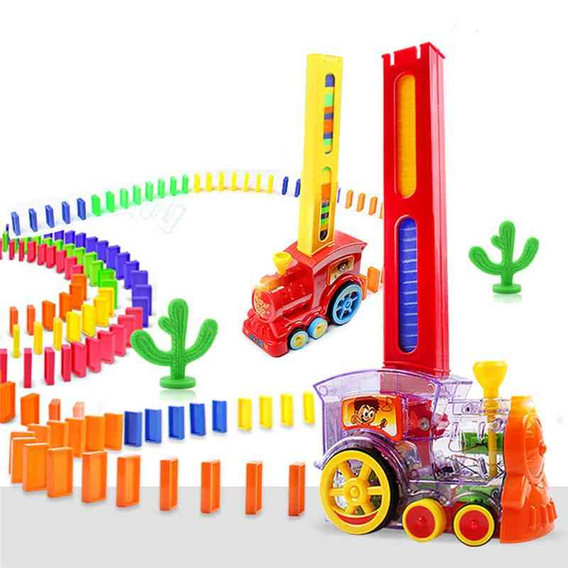 Dominoes Game Electric Train Kids Toy - Automatic Car Vehicle Model For Kids