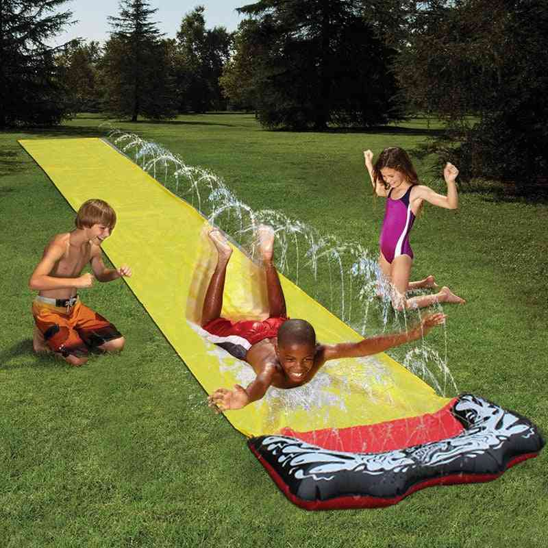 Lawn Water Slide With Spraying Garden Play- Swimming Pool Games Outdoor Party