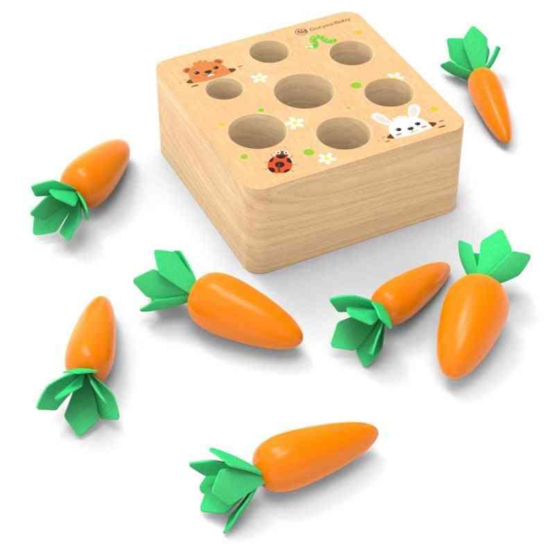 Montessori  Pulling Carrot Ability Alpinia Shape Wooden Block Set