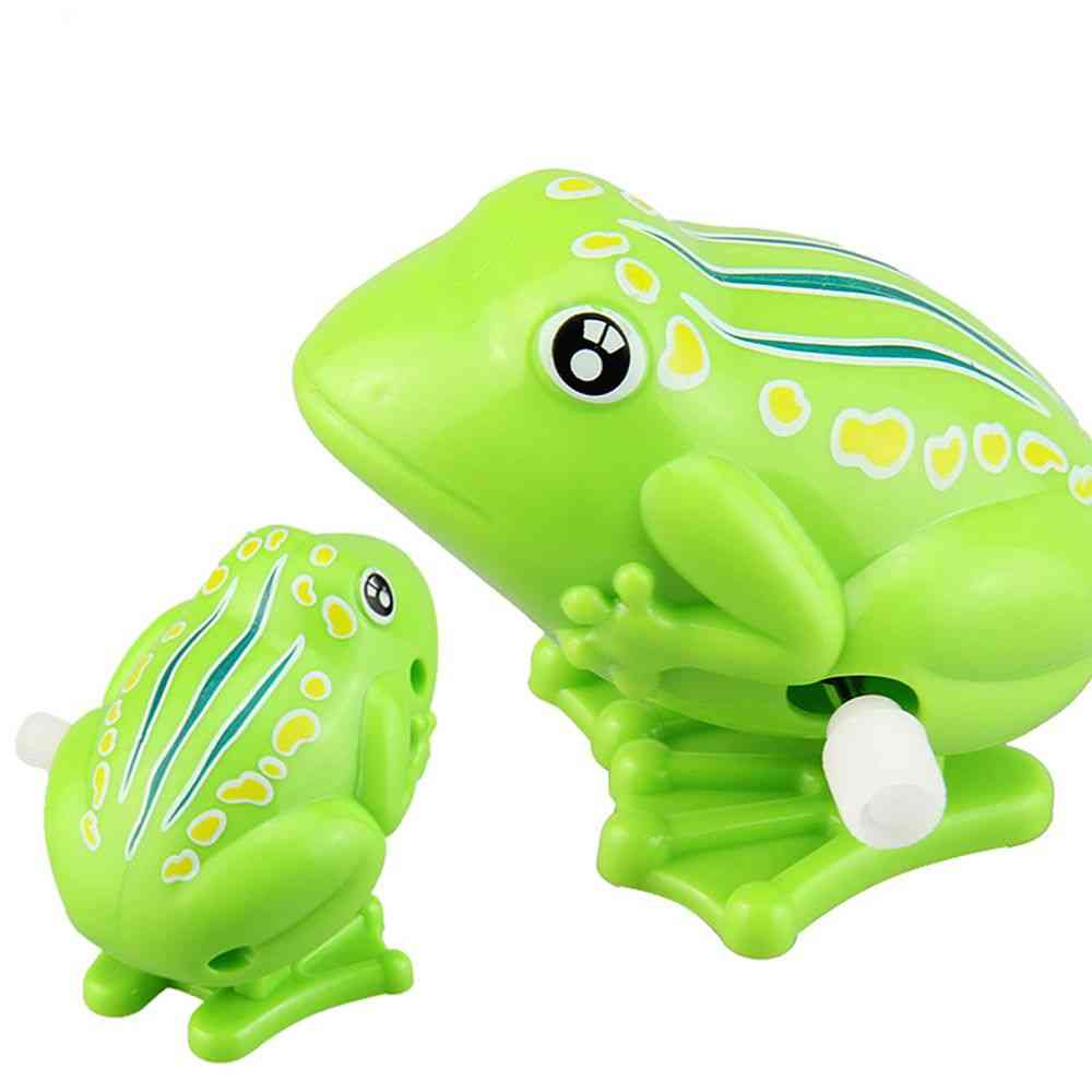 Lovely Cute Jumping Frog Clockwork Toy For Kids - Classic Wind Up Toy For Above 3 Years Old Kids