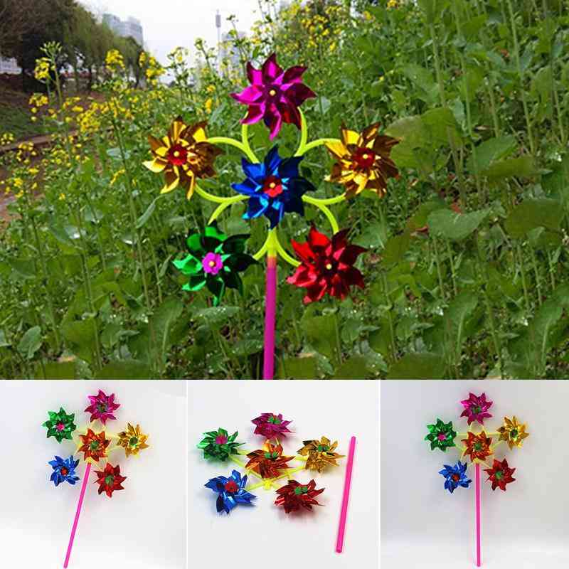 50cm Colorful Sequins Windmill For Home, Yard, Garden Decor
