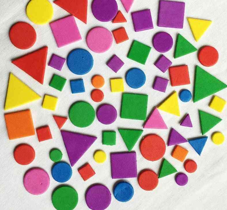 Irregular, Geometric And Alphabet Figure Foam-sticker For Diy Craft
