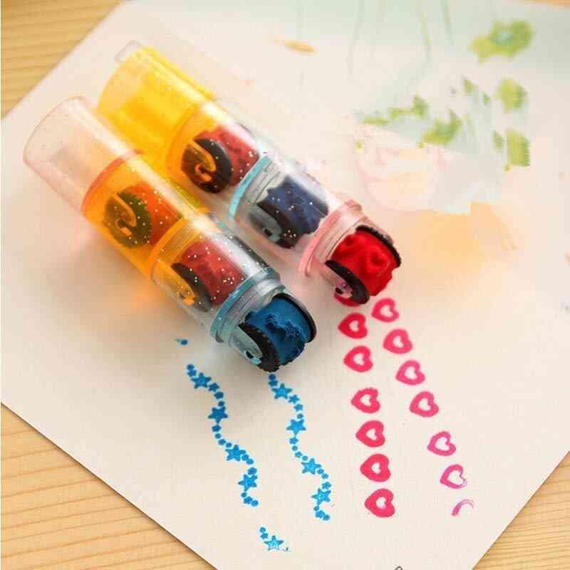 Combination Pen Shape Stamps Set Educational For Kids