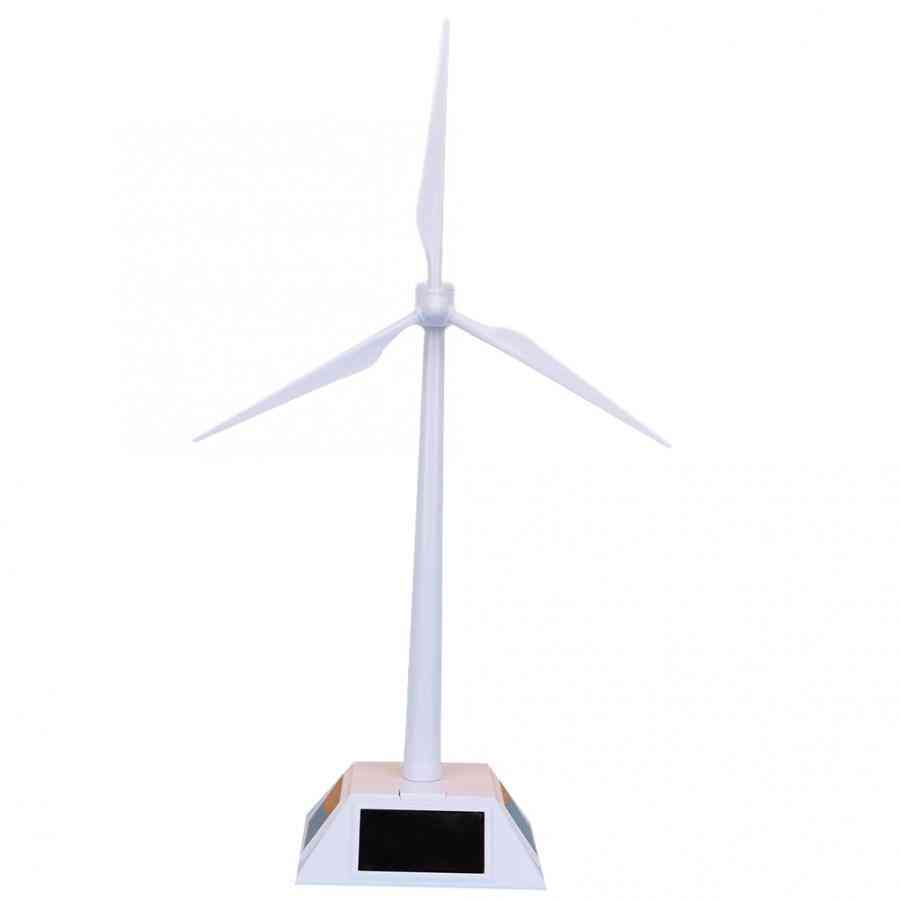 Windmill Model Building Kit Toy For Kids - Diy Solar Powered Pinwheel For