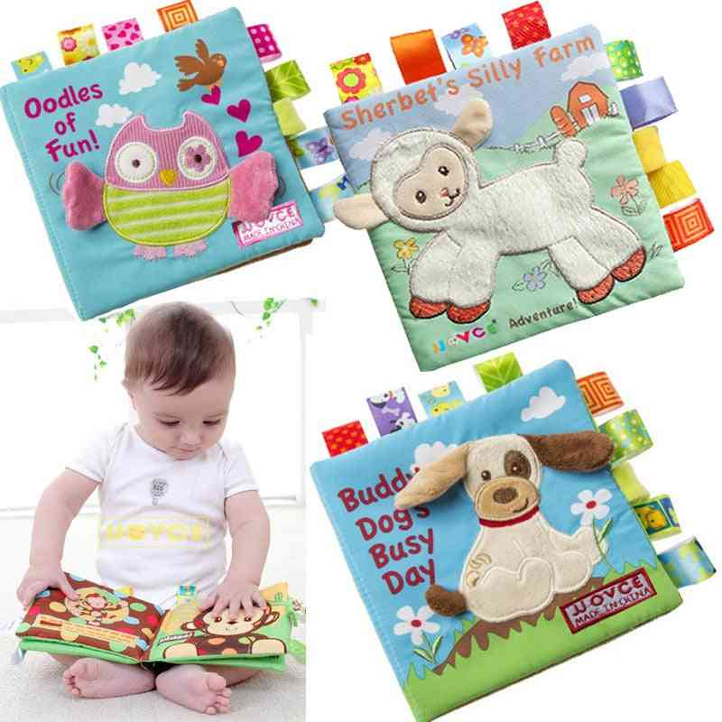 Animal Style Monkey/owl/dog Newborn Baby For Learning - Educational Kids Cloth Books Cute Toy