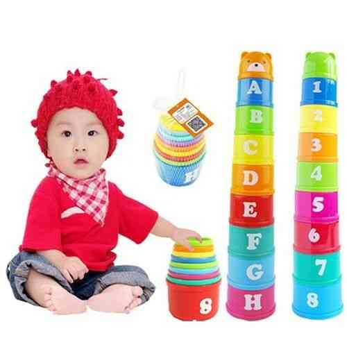 Educational Letters Piles, Folding Cups  - Kids Play