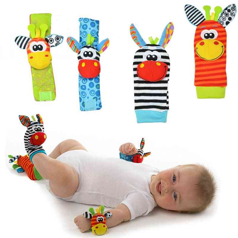Garden Bug Wrist Rattle And Footsocks - Animal Cute Cartoon Baby Socks Rattle
