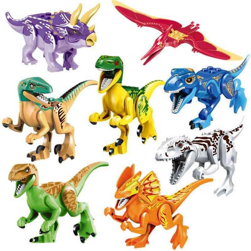 Colorful Jurassic Dinosaurs Model Set - Cute Plastic Animals