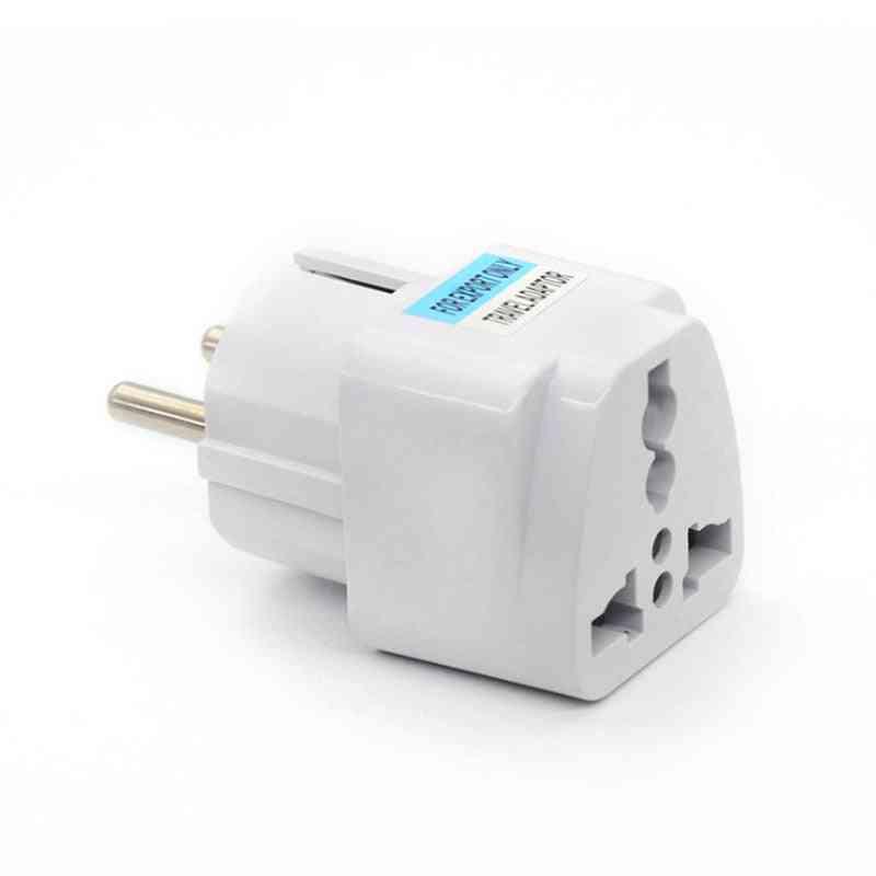 1pc Ac 250v 10a Eu Plug Eu Power Conversion Europe Power Plug Converter Socket  (1pc Eu Plug)