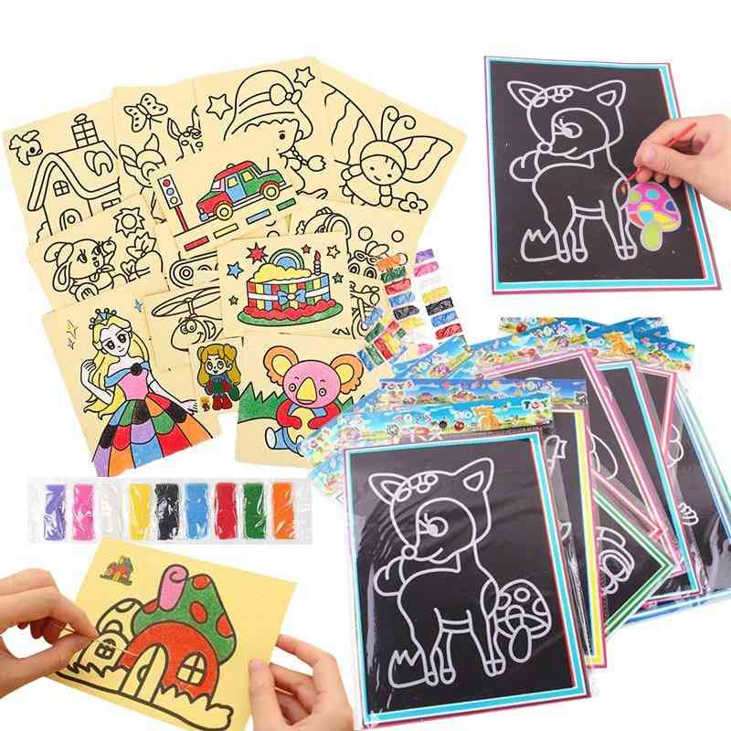Scratch Art And Sand Painting With Wooden Doodle - Early Educational, Learning Creative Drawing For Gyh