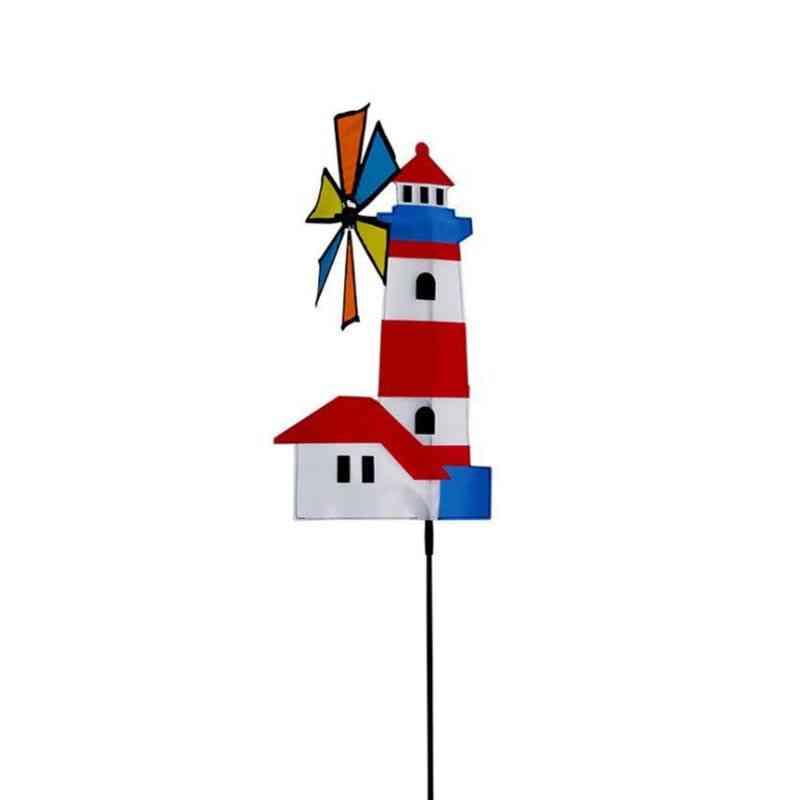 3d Windmill Wind Spinner - Whirligig Pinwheel Yard Garden Decor - Outdoor Classical