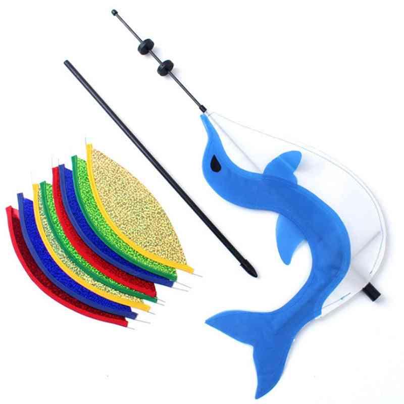 Windmill Rainbow Cute Cartoon Animal Dolphin Winnower Kids Toy