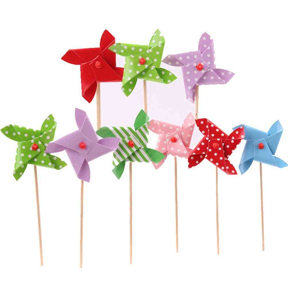 Lovely Mini Plastic Windmill Pinwheel Wind Spinner Toy For Baby