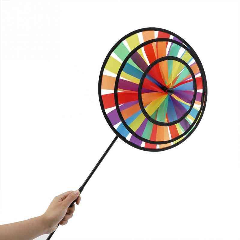 Windmill Pinwheel Sports Toy, Rainbow Wheel Kids Outdoor Toy