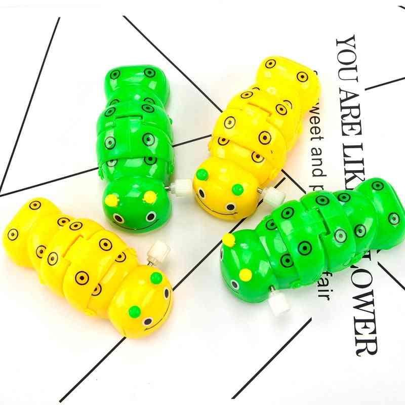Trolly Spring Clockwork Caterpillar Mini Pull Back Toy - Small Animal Crawl Toy