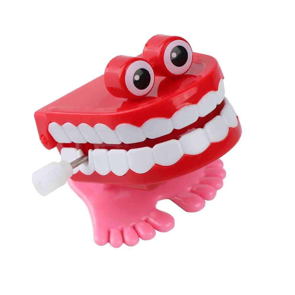 Funny Chattering, Jumping And Walking Teeth Shape Clockwork Toy