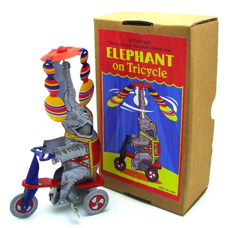 Classic Clockwork Wind Up Elephant Collection Tin Toy