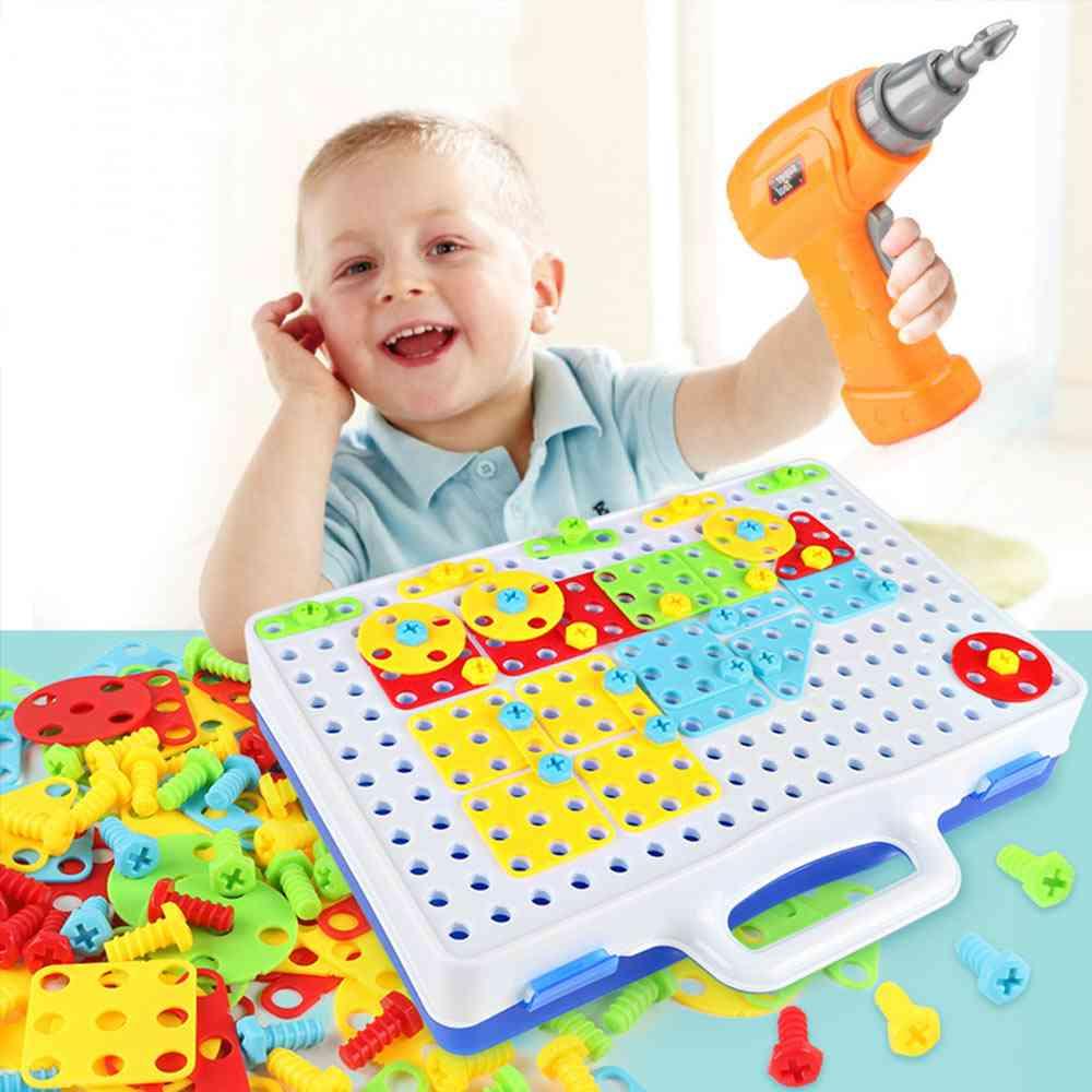 Diy Screw Drill Puzzle,  Jigsaw Building Educational Tool Kit